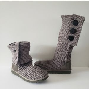 UGG Classic Cardy Knit Tall Button Boots